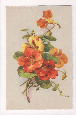 Greetings - Misc - Artist signed C Klein - yellow and orange flowers - w00203
