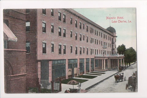 LA, Lake Charles - Majestic Hotel, barber pole (ONLY Digital Copy Avail) - CP0227