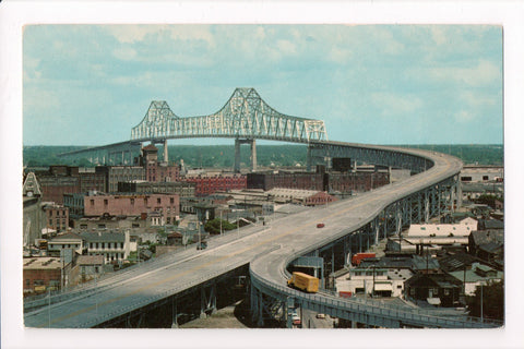 LA, New Orleans - Cantilevered Steel Bridge and surrounding area - 501111
