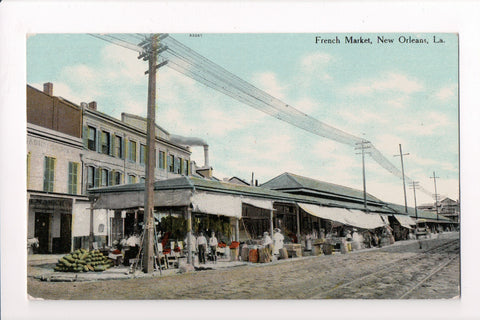 LA, New Orleans - French Market, watermelons postcard - A07067