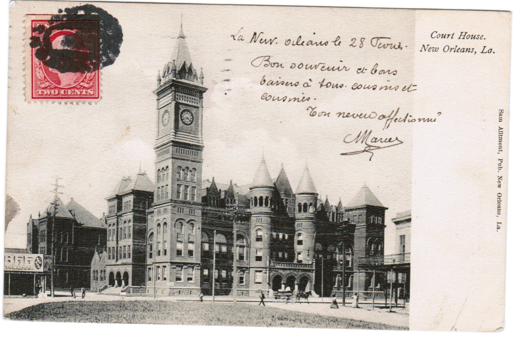 LA, New Orleans - Court House postcard - C08538