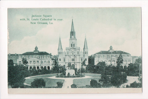 LA, New Orleans - Jackson Square, St Louis Cathedral  - CP0162
