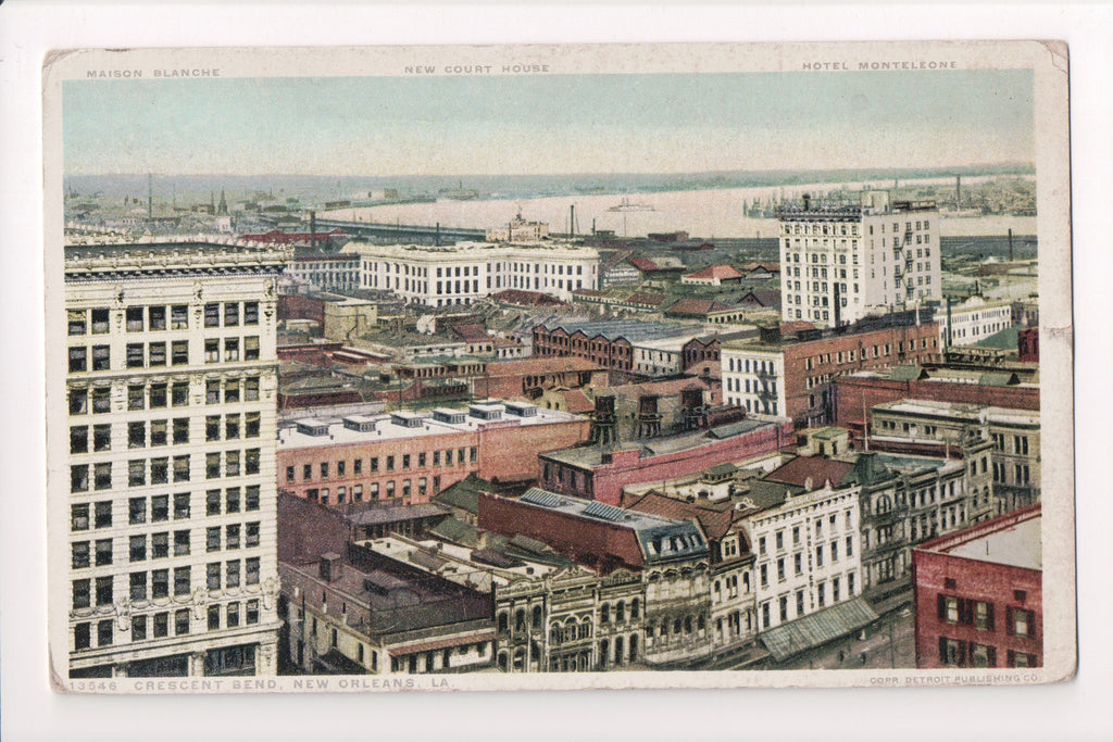 LA, New Orleans - Crescent Bend - Bird Eye View postcard - CP0165