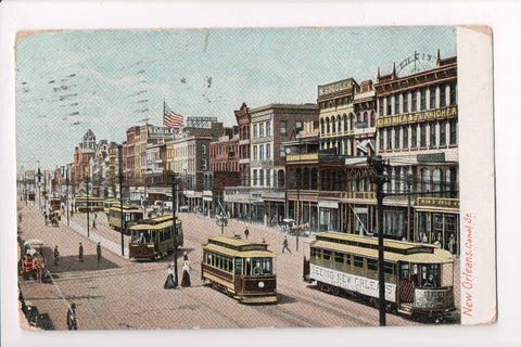 LA, New Orleans - Canal Street, with signs - B17279