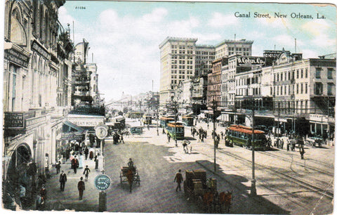 LA, New Orleans - Canal Street, B Cohn Co, White Bros - F03256