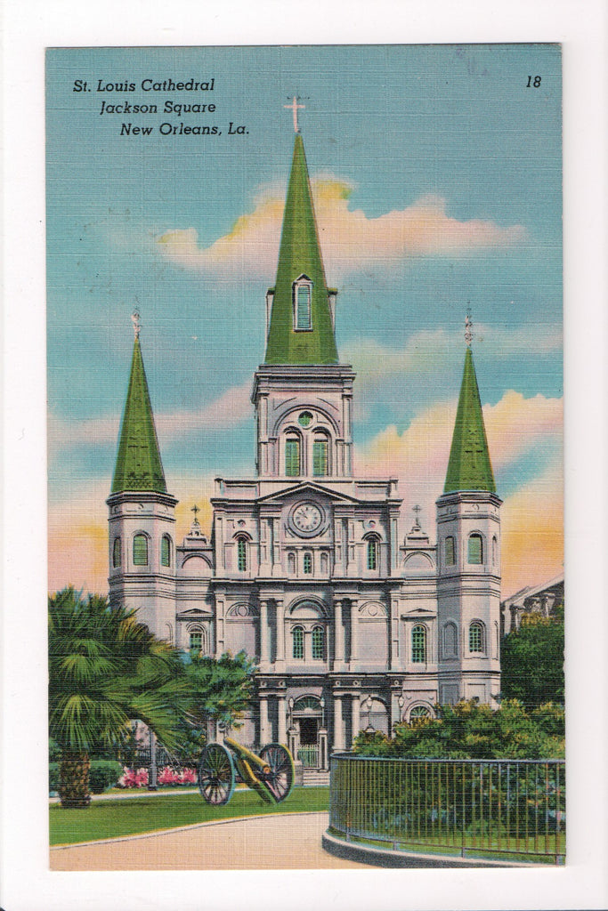 LA, New Orleans - St Louis Cathedral, Jackson Square, canon - w00538