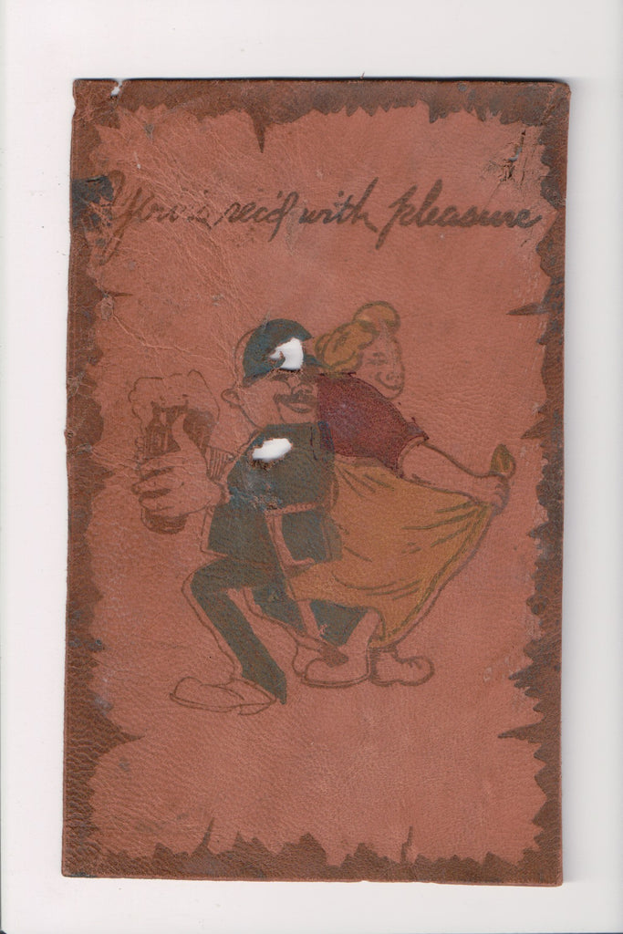 Leather (no postcard back) - YOURS RECEIVED WITH PLEASURE - VT0162