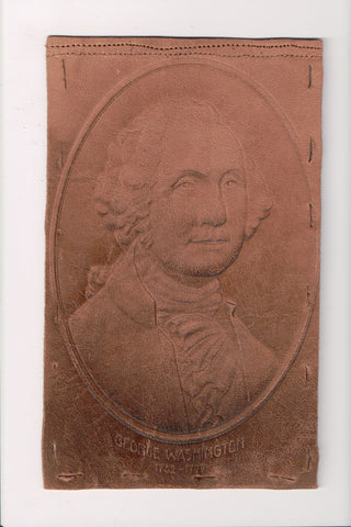 Leather Postcard - GEORGE WASHINGTON - MARBLE HEAD rec'd DPO cancel - cr0547