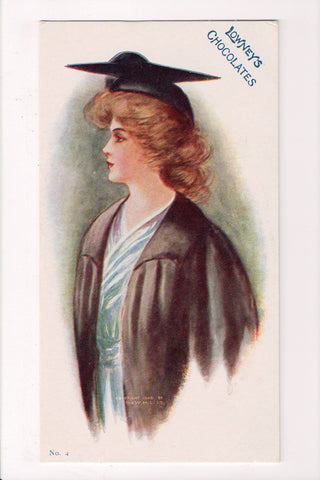 Advertisement postcard - LOWNEYS CHOCOLATES, No 4 - graduate - C08251