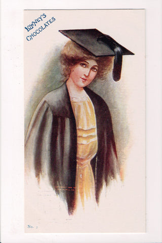 Advertisement postcard - LOWNEYS CHOCOLATES, No 3 - graduate - MB0784