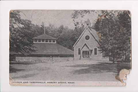 MA, Asbury Grove - Church and Tabernacle, @1915 vintage postcard - MA0152