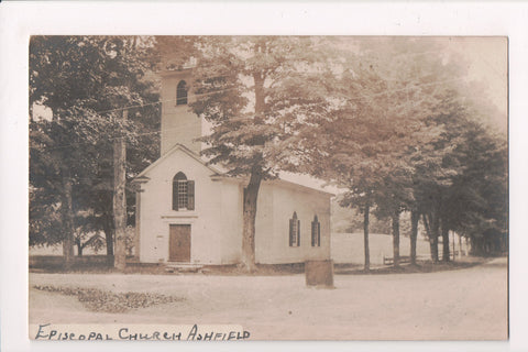 MA, Ashfield - Episcopal Church - Real Photo postcard RPPC - BP0008