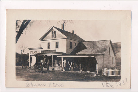 MA, Bernardston - old H L Crowell?? store -@1937 Shears Store - RPPC - BP0005