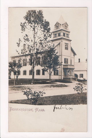 MA, Bernardston - Town Hall - RPPC - BP0006