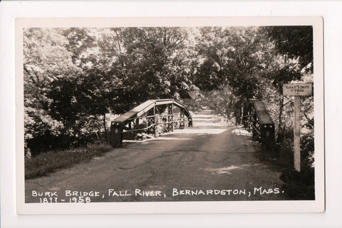MA, Bernardston - Burk Bridge, Fall River - 18?? - 1958 RPPC - BP0026