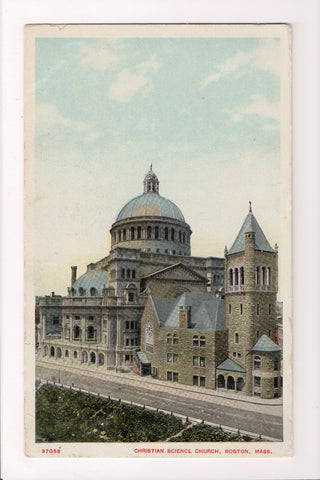 MA, Boston - Christian Science Church, vintage @1910 postcard - CP0035