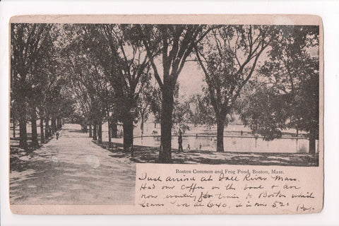 MA, Boston - Boston Common, Frog Pond postcard - B17061