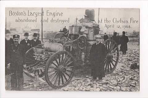 MA, Boston - Engine abandoned and destroyed at Chelsea Fire 4-12-1908 - D07133