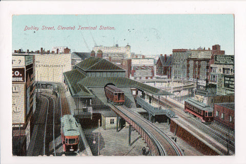 MA, Boston - Elevated Terminal Station - Station -A- flag killer - E10159