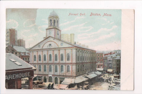 MA, Boston - Faneuil Hall - J03381 - postcard **DAMAGED / AS IS**