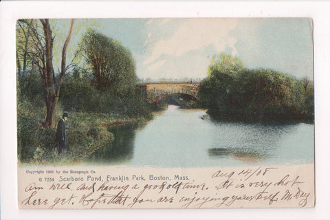 MA, Boston - Franklin Park, Scarboro Pond - DORCHESTER CENTER STATION - W01756