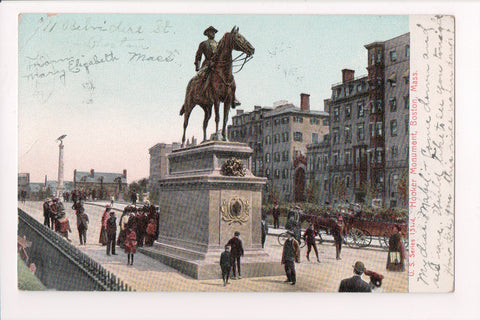 MA, Boston - Hooker Monument - FENWAY STATION flag killer - w04534