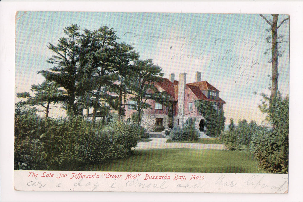 MA, Buzzards Bay - Joe Jeffersons (the late) residence CROWS NEST @1906 - EP0147