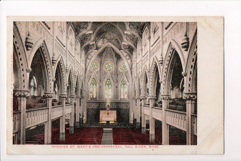 MA, Fall River - St Marys Pro-Cathedral interior - CP0150