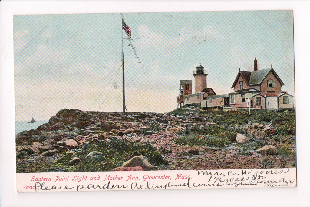 MA, Gloucester - Eastern Point Light, Lighthouse, Light House - w04348