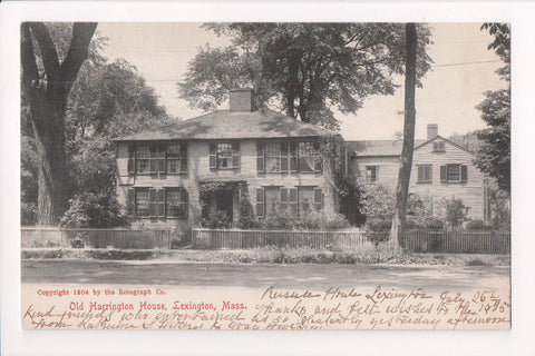 MA, Lexington - Harrington House (old) - @1905 postcard - w01633
