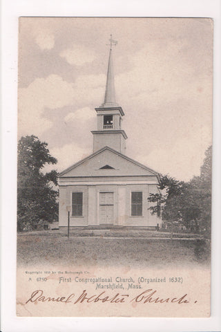 MA, Marshfield - First Congregational Church - @1911 CENTER MARSHFIELD DPO 4 - S