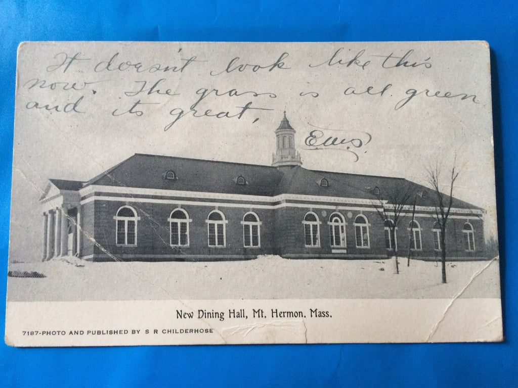 MA, Mt Hermon - Dining Hall (New) - Childerhose card - H15016