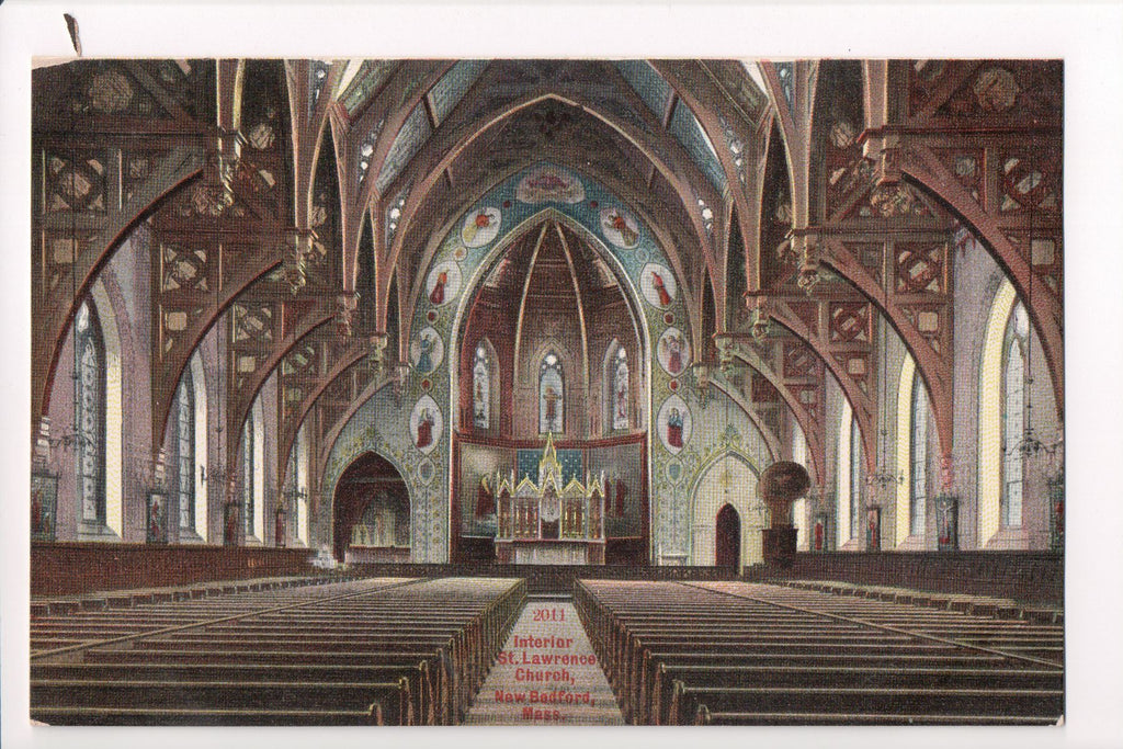 MA, New Bedford - St Lawrence Church - H S Hutchinson - CP0149
