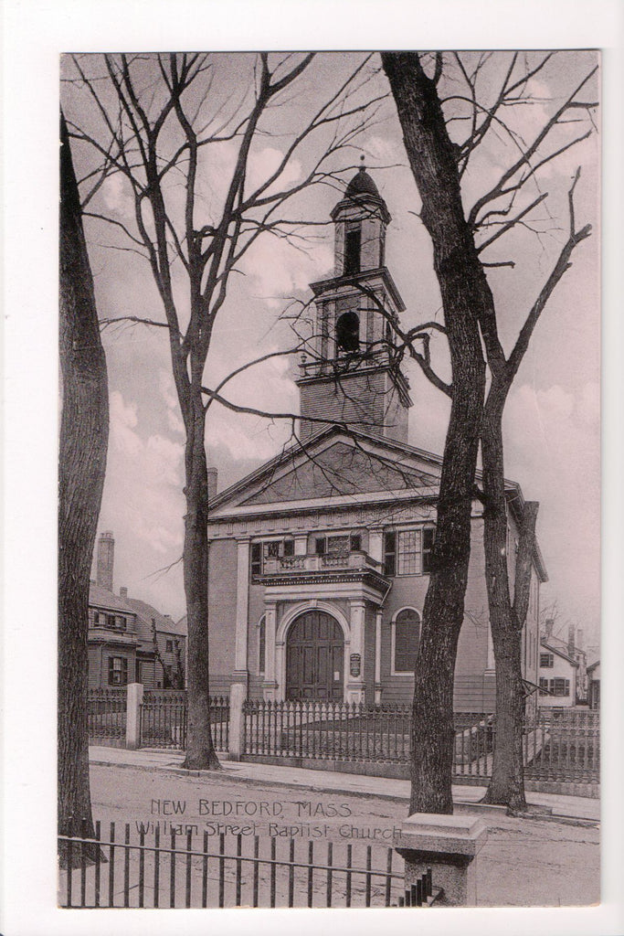 MA, New Bedford - William St Baptist Church (ONLY Digital  Copy Avail) - CP0282
