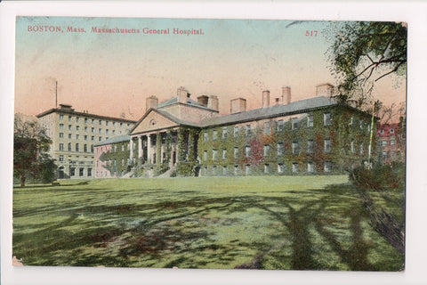 MA, Boston - Mass General Hospital - NORTH POSTAL STATION flag cancel - 500972