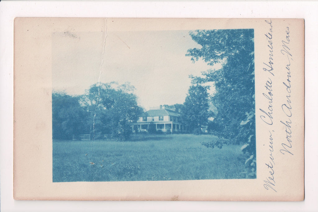MA, North Andover - Charlotte Homestead - @1911 Cyanotype - BP0036