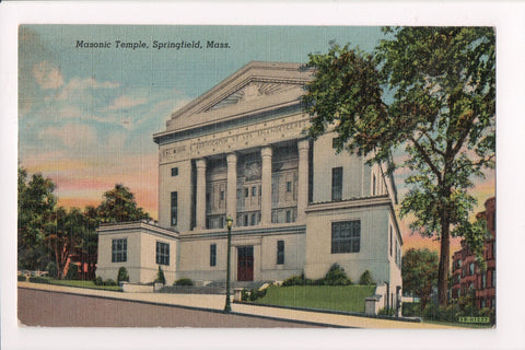 MA, Springfield - Masonic Temple - @1954 BRIGHTWOOD STA killer - B11436