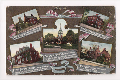MD, Annapolis - multi view postcard - MB0884