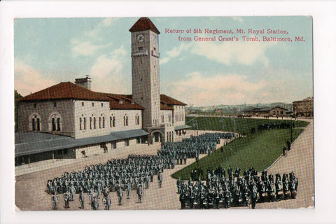MD, Baltimore - Return of 5th Regiment parade, Mt Royal Station - B06723