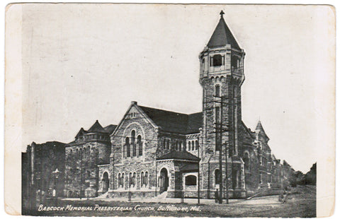 MD, Baltimore - Babcock Memorial Presbyterian Church - B08192