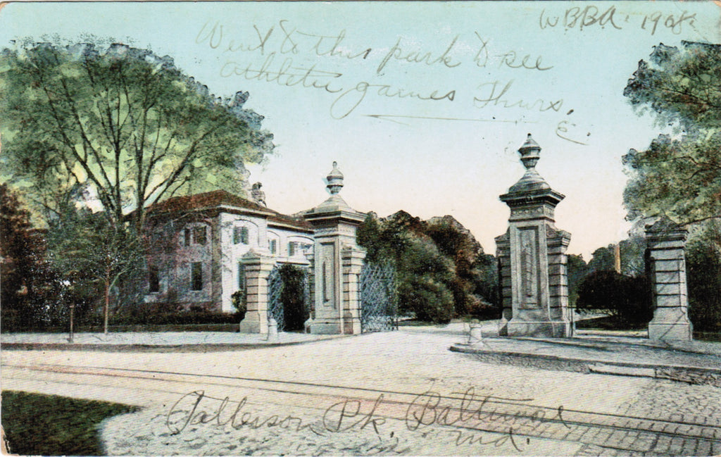 MD, Baltimore - Patterson Park entrance - B08193