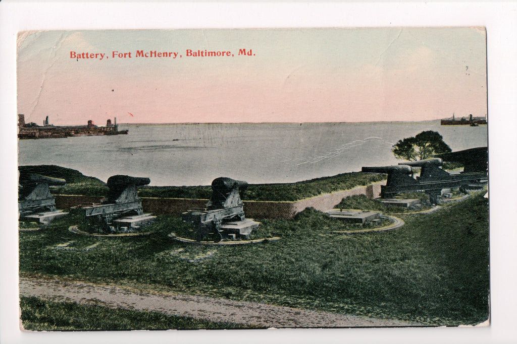 MD, Baltimore - Fort McHenry, Battery, Canons - CP0289