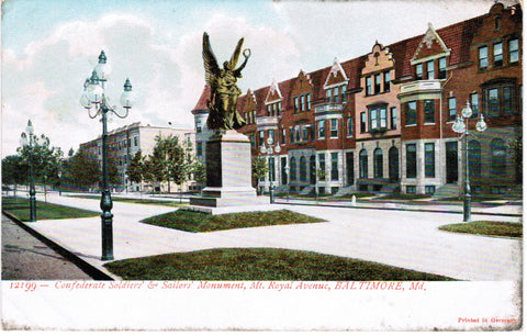 MD, Baltimore - Mt Royal Avenue, Confederate Monument - D04102