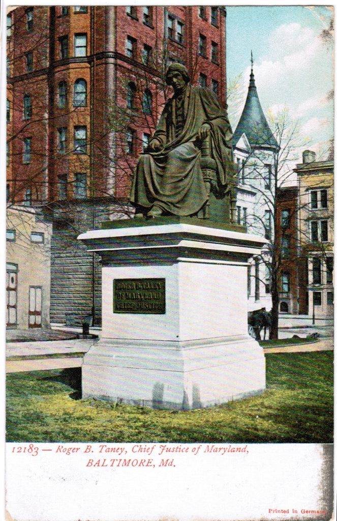 MD, Baltimore - Roger B Taney, Chief Justice postcard - D04118
