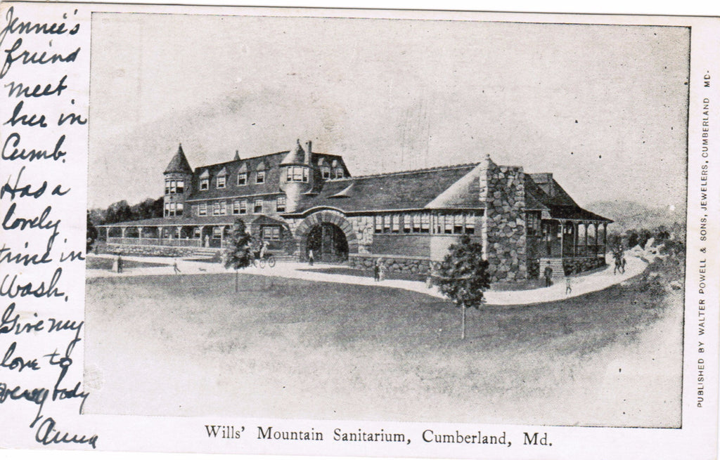 MD, Cumberland - Wills Mountain Sanitarium (ONLY Digital Copy Avail) - B08199