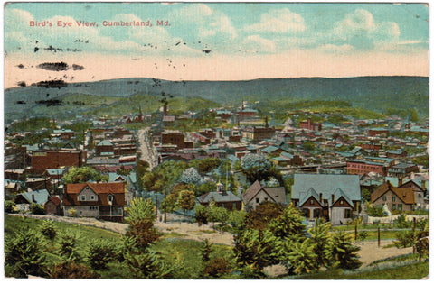 MD, Cumberland - Bird Eye View of town - C04059