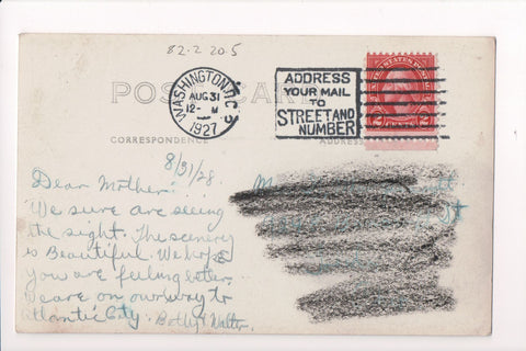 pm SLO - ADDRESS YOUR MAIL - DC 1927 Slogan or Logo cancel - C08618