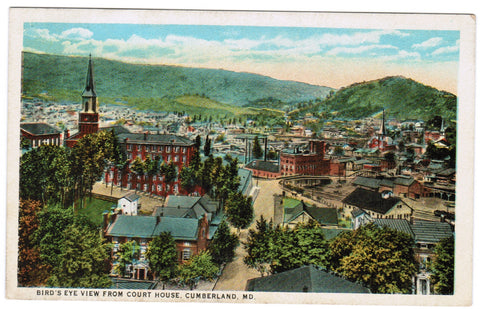 MD, Cumberland - Bird Eye View - K03048