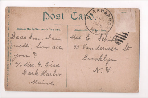 pm DPO - ME, Darkharbor - 1908 cancel - Helbock S/I #1 - B17109