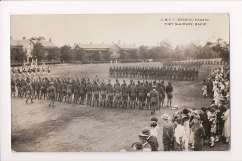 ME, Fort McKinley - CMTC Evening Parade - @1920s RPPC - B11191 (DPO cancel)